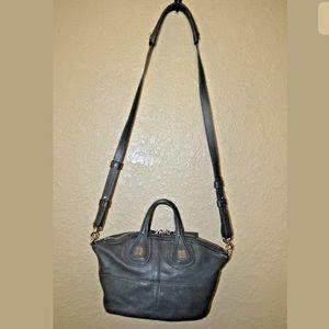 $1650 Givenchy Gray Leather Nightingale Handbag
